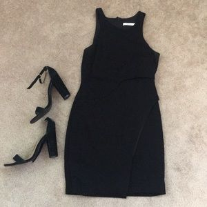 Black dress with wrap detail